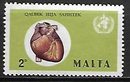 MALTE    -   1972 .   Y&T N° 438 **.   Mois Du Coeur  /  Médecine - Malta