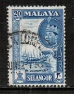 MALAYA---Selangor   Scott # 120 VF USED (Stamp Scan # 435) - Selangor