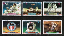 LIBERIA   Scott # 599-604 VF USED (Stamp Scan # 435) - Liberia