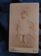 Photo CDV  Wildor Rue De L'Entrepot Paris  Bébé Joufflu Debout Sur Une Chaise  CA 1885 - L403A - Photographs