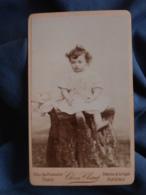 Photo CDV Claret à Asnières  Bébé En Robe Assis  CA 1895 - L403A - Anciennes (Av. 1900)