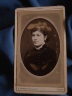 Photo CDV Appert Rue Taitbout Paris  Portrait Femme  Robe En Velours  CA 1880 - L403B - Photographs