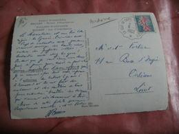 La Tour De Carol A Ax Les Thermes Cachet Ambulant Convoyeur Poste Ferroviaire Sur Lettre - Marcophilie (Lettres)