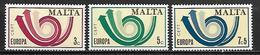 MALTE    -   1973 .   Y&T N° 474 à 476 **.   EUROPA.   Série Complète - Malta