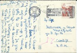 "Yugoslavia 1959 Belgrade  - Slogan / Flamme ,,Posetite Savezni Slet Partizana Jugoslavije"" - 1945-1992 Socialistische Federale Republiek Joegoslavië"