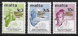MALTE    -   1973 .   Y&T N° 477 à 479 **.    Série Complète - Malta