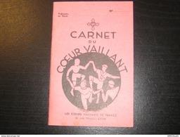 8401- 2018   SCOUTISME CARNET DU COEUR VAILLANT VIERGE IMPRIME EN 1938 - Scoutisme