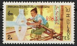 Laos 601 Overprint 1982 Red Postfrisch - Laos