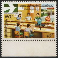 Laos 606 Overprint 1982 Black Postfrisch - Laos