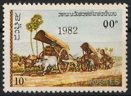 Laos 607 Overprint 1982 Black Postfrisch - Laos