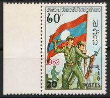 Laos 609 Overprint 1982 Red Postfrisch - Laos
