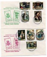 2 Cartas Con Matasellos Commemorativo Exposicion Filatelica Hermandad Valencia-zaragoza - 1931-Hoy: 2ª República - ... Juan Carlos I