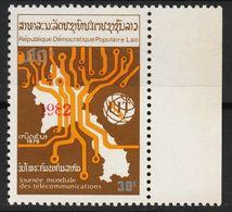 Laos 610 Overprint 1982 Red Postfrisch - Laos