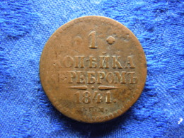 RUSSIA 1 KOPEK 1841 SPM, KM144.3 Cleaned - Russie