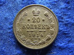 RUSSIA 20 KOPEK 1914, KM22a.1 - Russie