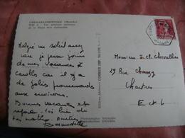Edenville Cme Boulhon  Recette Auxiliaire Obliteration Sur Lettre - Marcophilie (Lettres)