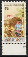 Laos 612 Overprint 1982 Red Postfrisch - Laos
