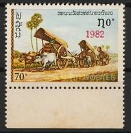Laos 613 Overprint 1982 Red Postfrisch - Laos