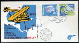NL. ANTILLEN E30 FDC 1964 - Herdenkingszegels Luchtvaart. - Curacao, Netherlands Antilles, Aruba