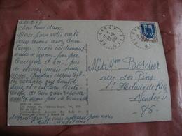 Baron Facteur Boitier Obliteration Sur Lettre - Marcophilie (Lettres)