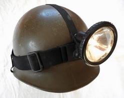 Casque Allemand Bundeswehr + Lampe Frontale - Casques & Coiffures