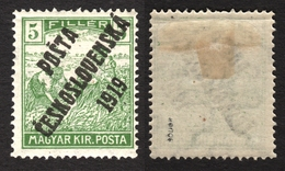 1919 Czechoslovakia Czechoslovakia Tschechoslowakei Occupation Hungary Posta Ceskoslovenska Mi. 122 Harvester MH 5 Fill - Unused Stamps