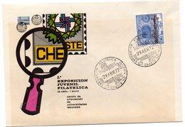 Carta Con Matasellos Commemorativo Exposicion Filatelica Juvenil Cheste - 1931-Hoy: 2ª República - ... Juan Carlos I