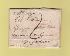 Pignerole - 104 - 1802 - Griffe Decimes - Arrivee Au Dos Prairial - Departement Conquis Du Pô - Postmark Collection (Covers)