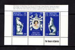 FALKLAND  ISLANDS  ( South  Georgia )  25th  Anniv  Of  Coronation     Sheetlet    MNH - Falkland Islands