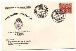 Carta Con Matasellos Commemorativo Exposicion Filatelica Utiel (valencia) - 1931-Hoy: 2ª República - ... Juan Carlos I