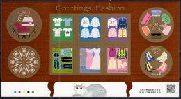 JAPAN, 2018, MNH, FASHION, GREETINGS, SHOES, HANDBAGS, CLOTHES, SHEETLET - Factories & Industries