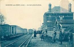 -depts Div.-ref-AE435- Aisne - Barisis Aux Bois - Gare Prise Du Quai - Gares - Train - Trains - Ligne De Chemin De Fer - - Autres Communes