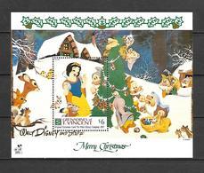 Disney St Vincent 1991 Christmas Card #2 MS MNH - Disney