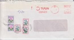 Lettre Taxée, 1981, Affranchie EMA TUFLIN ROBINETTERIE PRINGY 1,40 Fr  , Taxe 2,30 Fr,  5 Timbres FLEURS / 6000 - Taxes