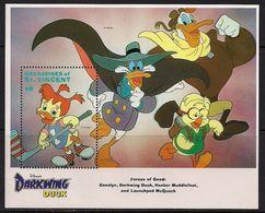 Disney St Vincent 1992 Darkwing Duck MS #3 MNH - Disney