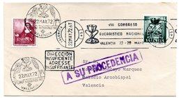 Carta  Con Matasellos  Commemorativo VIII Congreso Eucaristico Nacional Con Matasellos A Su Procendencia .. - 1931-Hoy: 2ª República - ... Juan Carlos I