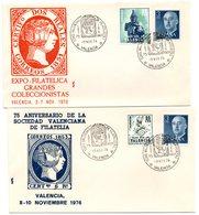 2 Cartas  Con Matasellos  Commemorativo Sociedad Valenciana De Filatelistas De 1976 - 1931-Hoy: 2ª República - ... Juan Carlos I