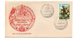 Carta  Con Matasellos  Commemorativo Iberflora De 1972 - 1931-Hoy: 2ª República - ... Juan Carlos I