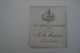 Debut 1900' 4x Etiquettes Vin Wijn Originele - Rouges