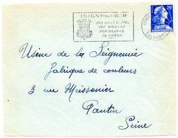 CALVADOS - Dépt N° 14 = ISIGNY Sur MER 1958 = FLAMME  SECAP Illustrée D'ARMOIRIES 'VIEUX CASTEL MOULES BEURRE CREME' - Postmark Collection (Covers)