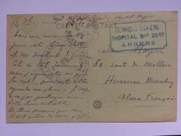 FRANCE - 1917 WW1 Postcard - Clinique Esviere Hopital Angers Cachet - Military Censor Cachet - France
