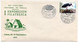 Carta  Con Matasellos  Commemorativo Exposicion Filatelica De Sueca 1973 - 1931-Hoy: 2ª República - ... Juan Carlos I