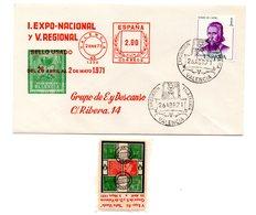 Carta  Con Matasellos  Commemorativo Exposicion Filatelica De Valencia 1971 Con Viñeta Etiqueta. - 1931-Hoy: 2ª República - ... Juan Carlos I