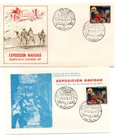 Carta + Tarjeta  Con Matasellos  Commemorativo Exposicion Filatelica De Valencia 1971 Navidad - 1931-Hoy: 2ª República - ... Juan Carlos I