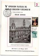 Librito Con Matasellos Commemorativo Exposicion De Valencia De 1971 - España