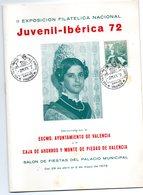 Librito Con Matasellos Commemorativo Juvenil Iberica De 1972 - España