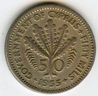 Chypre Cyprus 50 Mils 1955 KM 36 - Cyprus