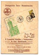 Librito Con Matasellos Commemorativo Exposicion Sans Hostafranchs De 1956 - España