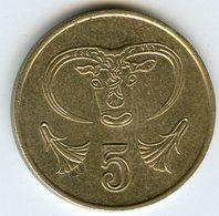 Chypre Cyprus 5 Cents 1993 KM 55.3 - Chypre