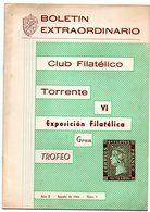 Librito Con Matasellos Commemorativo Exposicion Filatelica De Torrente De 1962 - Otros